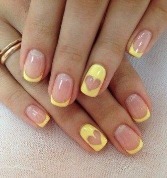 Дизайн на прозрачном фоне ногтей