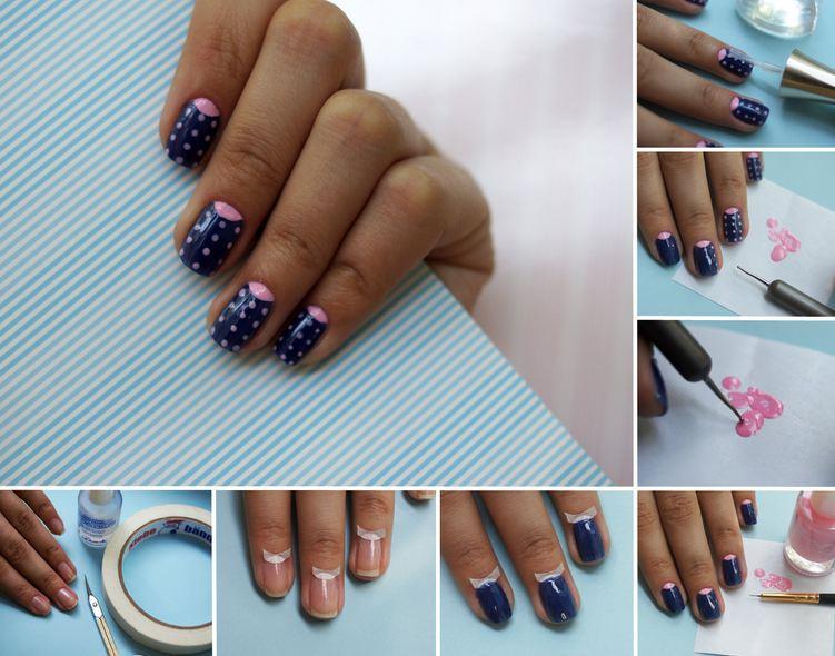 Как сделать лунный маникюр в домашних условиях на коротких ногтях