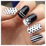 Фотографии черно-белого дизайна ногтей