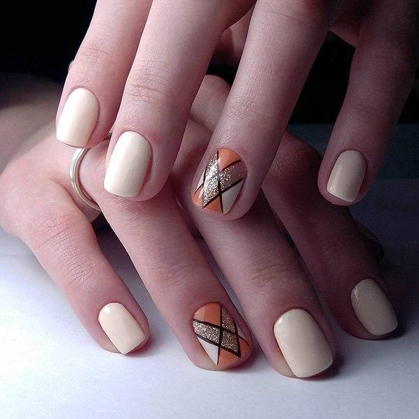 покрытие гель лаком коротких ногтей фото